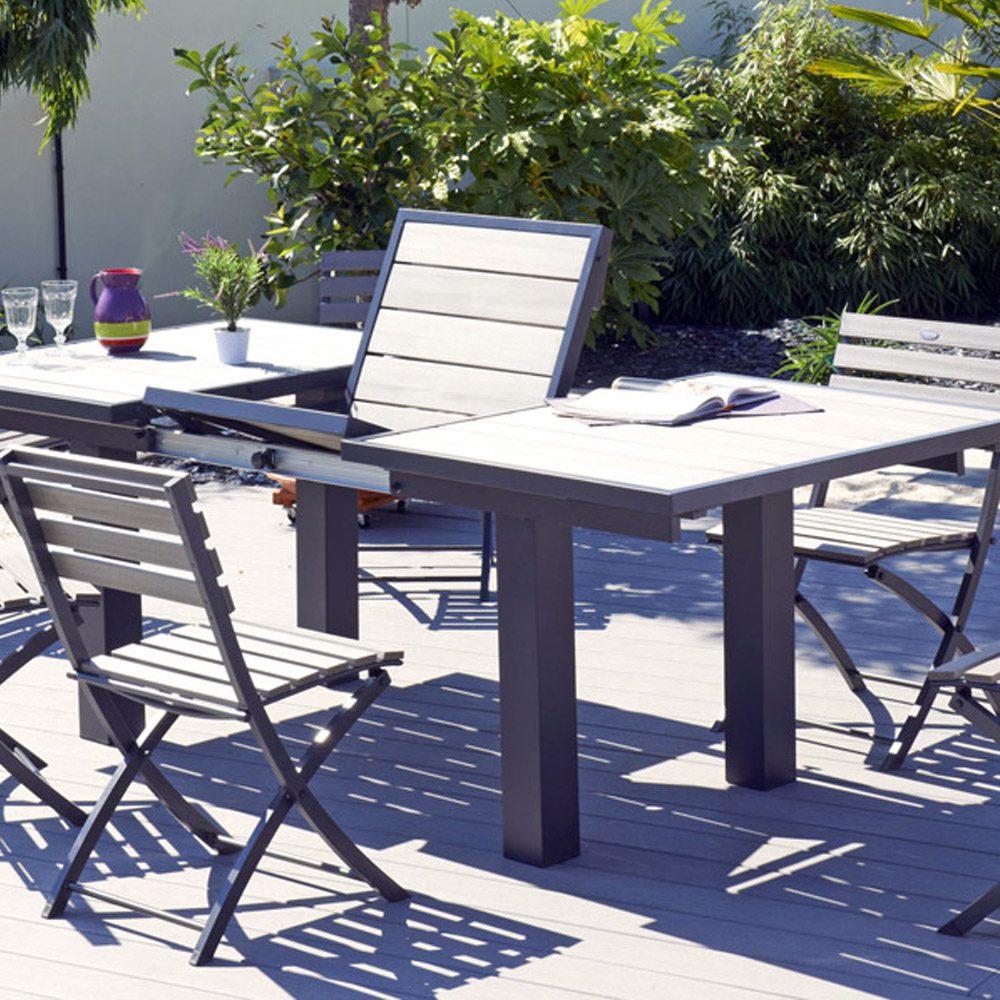 Mesa de terraza de aluminio extensible im genes y fotos - Mesas de terrazas ...