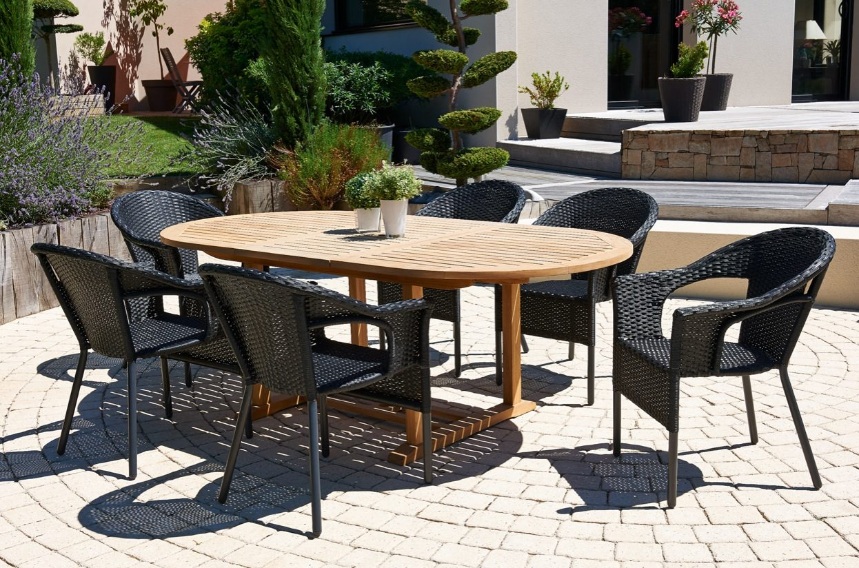 Materiales para las mesas de terraza for Comedores exteriores para terrazas