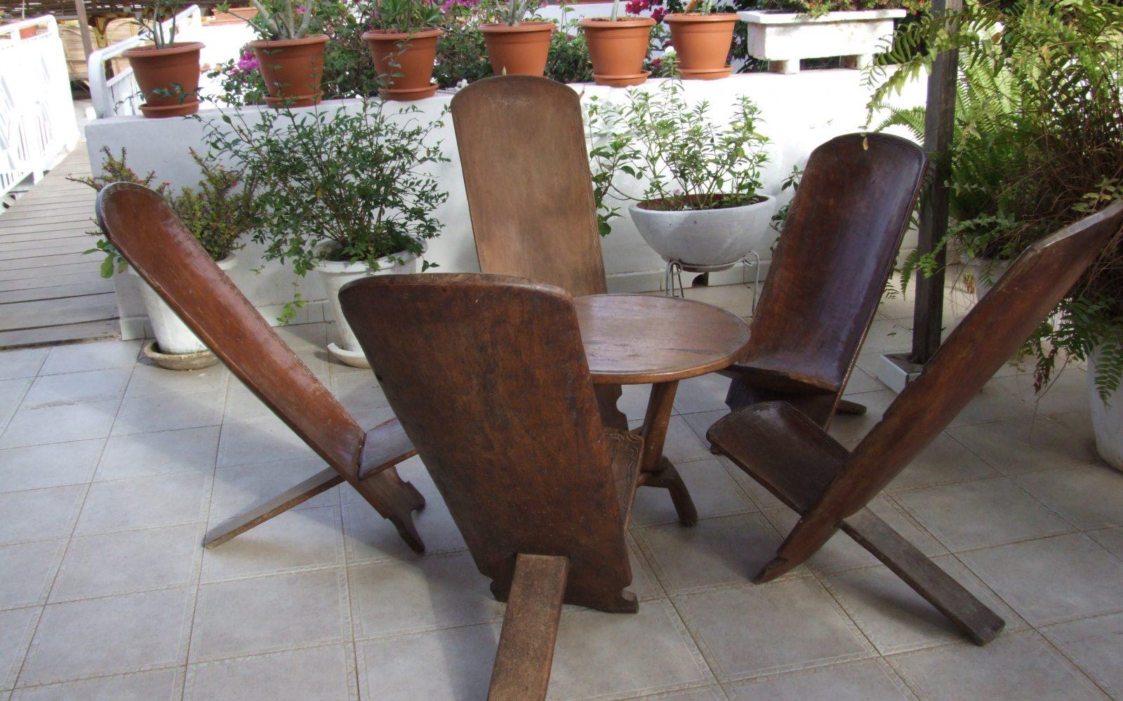 Galer a de im genes sillas para terrazas for Mesas de terraza plegables